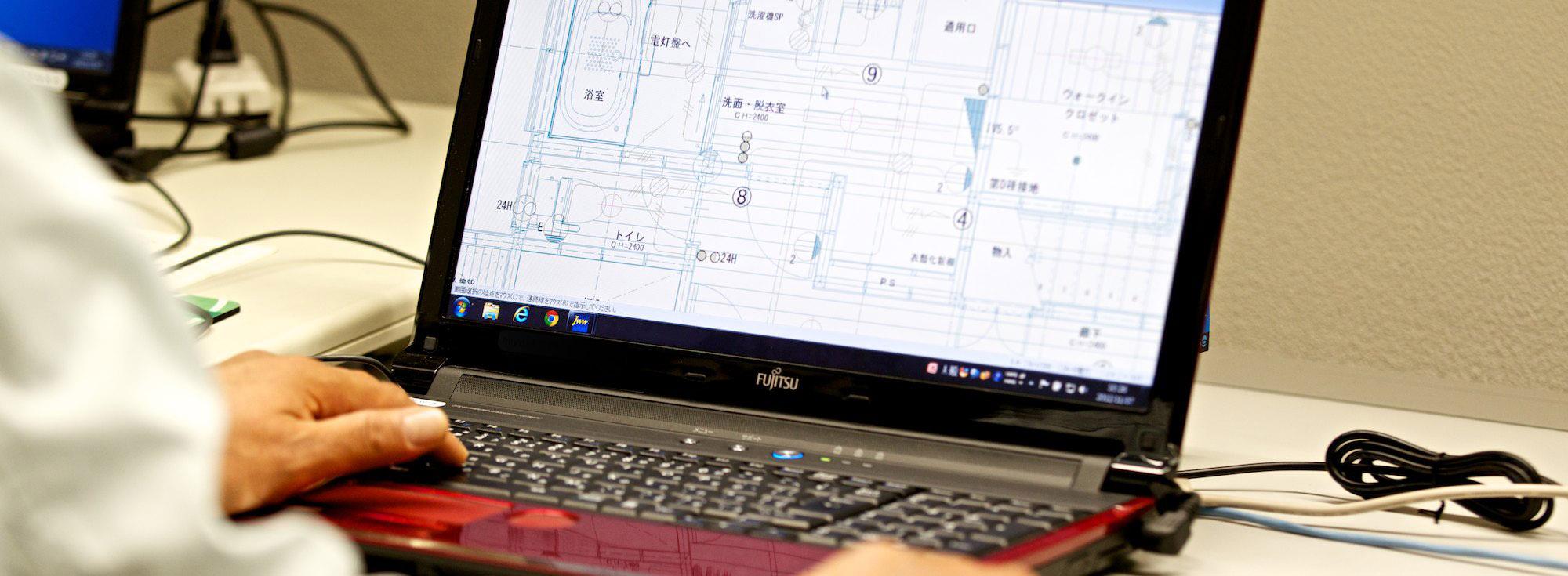 CADによる電気配線設計